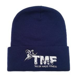 Royal Blue & White Ski Hat